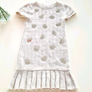 Heirlooms by Polly Sweater Hearts Dress sz 5/6